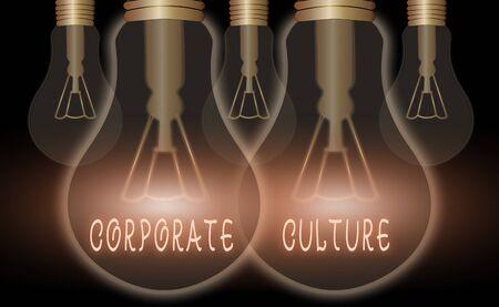 Handschrift Text schreiben Unternehmenskultur. Konzeptionelle Foto Überzeugungen und Ideen, dass ein Unternehmen gemeinsame Werte hat