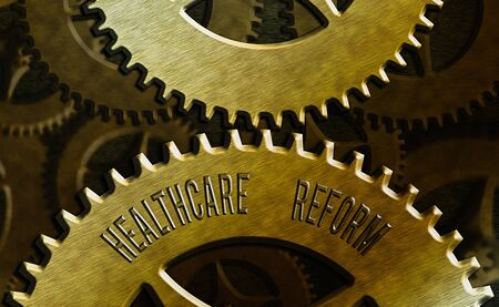 Handwriting text Healthcare Reform. Conceptual photo Innovation and Improvement in the quality of care program