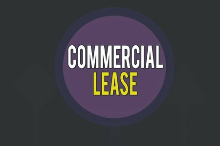 Conceptual hand writing showing Commercial Lease. Concept meaning refers to buildings or land intended to generate a profit Three Blank Safety Road signs lighted and dark Street Sign
