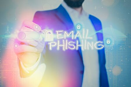 Word writing text Email Phishing. Business photo showcasing Emails that may link to websites that distribute malware Stock Photo