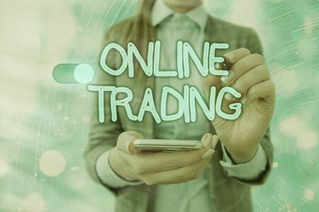 Handwriting text writing Online Trading. Conceptual photo Buying and selling assets via a brokerage internet platform