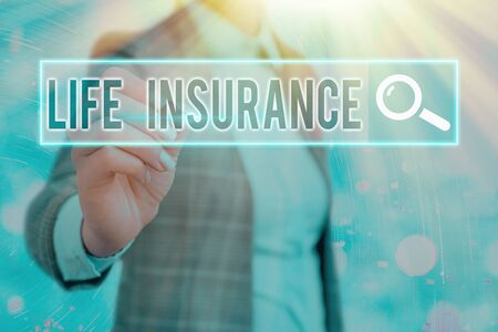 Word writing text Life Insurance. Business photo showcasing Payment of death benefit or injury Burial or medical claim Zdjęcie Seryjne