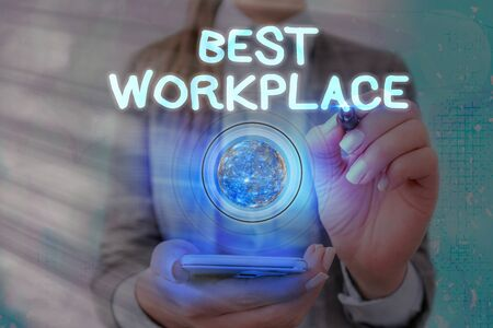 Word writing text Best Workplace. Business photo showcasing Ideal company to work with High compensation Stress free Zdjęcie Seryjne