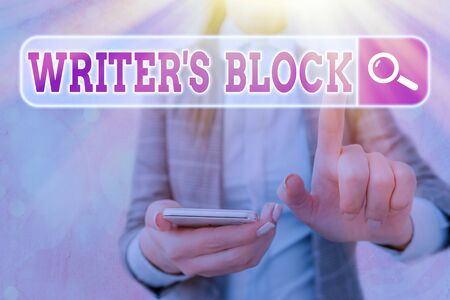 Handwriting text writing Writer S Block. Conceptual photo Condition of being unable to think of what to write