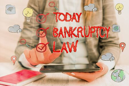 Word writing text Bankruptcy Law. Business photo showcasing Designed to help creditor in getting the asset of the debtor 免版税图像