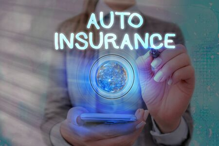 Word writing text Auto Insurance. Business photo showcasing Protection against financial loss in case of accident