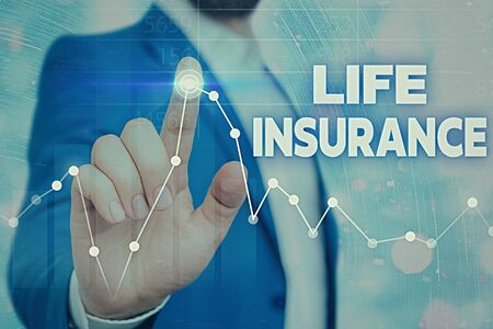 Writing note showing Life Insurance. Business concept for Payment of death benefit or injury Burial or medical claim