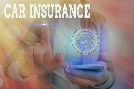 Word writing text Car Insurance. Business photo showcasing Accidents coverage Comprehensive Policy Motor Vehicle Guaranty Stock Photo