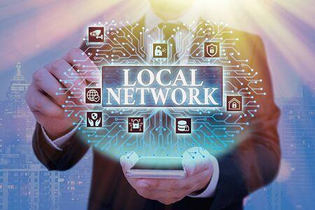 Handwriting text Local Network. Conceptual photo Intranet LAN Radio Waves DSL Boradband Switch Connection