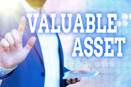 Word writing text Valuable Asset. Business photo showcasing Your most valuable asset is your ability or capacity
