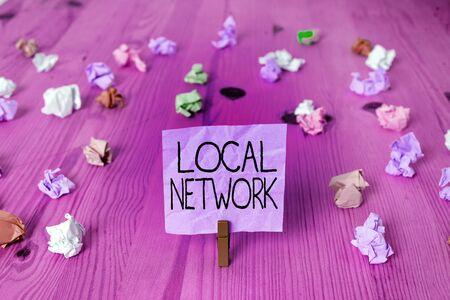 Handwriting text writing Local Network. Conceptual photo Intranet LAN Radio Waves DSL Boradband Switch Connection 写真素材