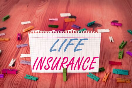Text sign showing Life Insurance. Business photo text Payment of death benefit or injury Burial or medical claim