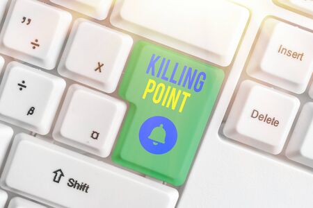 Handwriting text Killing Point. Conceptual photo Phase End Review Stage Gate Project Evaluation No Go