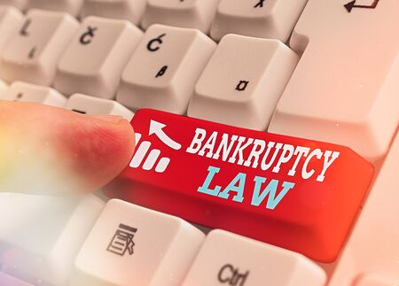 Word writing text Bankruptcy Law. Business photo showcasing Designed to help creditor in getting the asset of the debtor