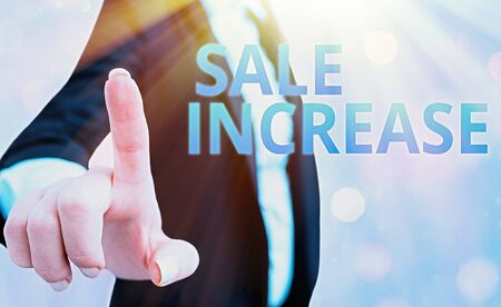 Text sign showing Sale Increase. Business photo text Average Sales Volume has Grown Boost Income from Leads Stock Photo