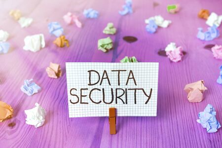 Text sign showing Data Security. Business photo showcasing Confidentiality Disk Encryption Backups Password Shielding