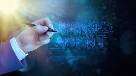 Text sign showing Licensed Agent. Business photo showcasing Authorized and Accredited seller of insurance policies