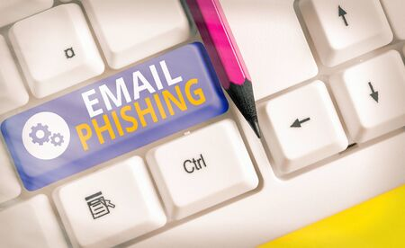Handwriting text writing Email Phishing. Conceptual photo Emails that may link to websites that distribute malware Stock Photo