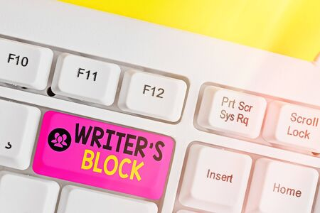 Text sign showing Writer S Block. Business photo showcasing Condition of being unable to think of what to write Stok Fotoğraf
