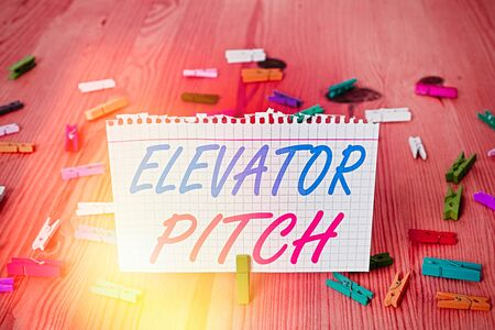 Text sign showing Elevator Pitch. Business photo text A persuasive sales pitch Brief speech about the product