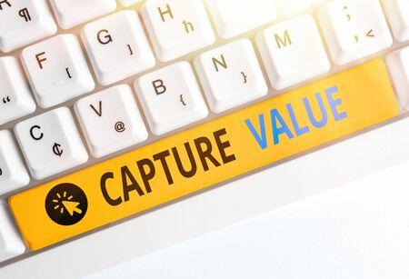 Handwriting text writing Capture Value. Conceptual photo Customer Relationship Satisfy Needs Brand Strength Retention