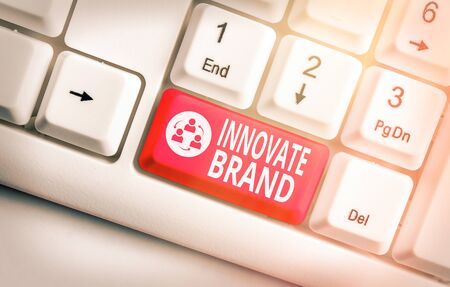 Word writing text Innovate Brand. Business photo showcasing significant to innovate products, services and more