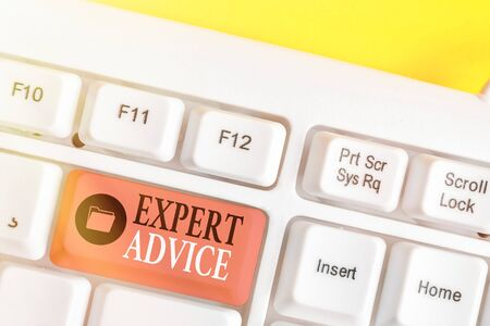 Word writing text Expert Advice. Business photo showcasing Sage Good Word Professional opinion Extensive skill Ace