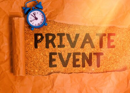 Text sign showing Private Event. Business photo showcasing Exclusive Reservations RSVP Invitational Seated