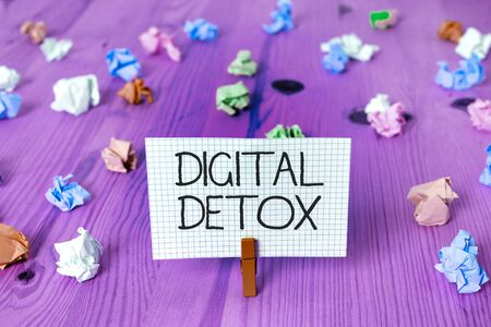 Text sign showing Digital Detox. Business photo showcasing Free of Electronic Devices Disconnect to Reconnect Unplugged 写真素材