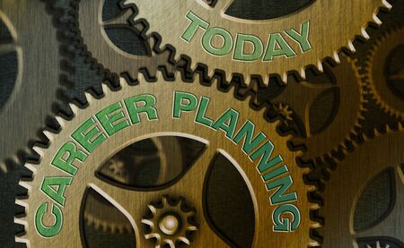Text sign showing Career Planning. Business photo showcasing Strategically plan your career goals and work success Stock fotó