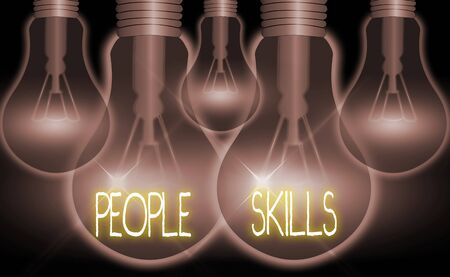 Conceptual hand writing showing People Skills. Concept meaning Get Along well Effective Communication Rapport Approachable