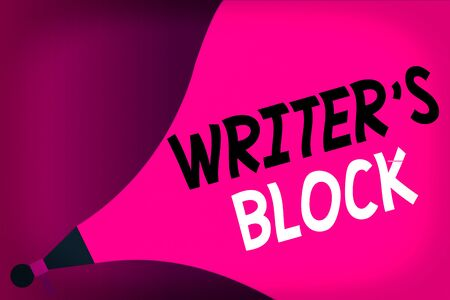 Conceptual hand writing showing Writer S Block. Concept meaning Condition of being unable to think of what to write Megaphone Extending the Loudness Sound Intensity and Volume.