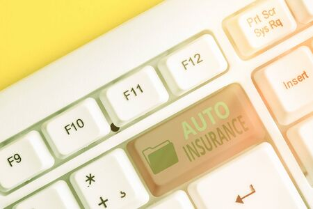 Writing note showing Auto Insurance. Business concept for Protection against financial loss in case of accident Zdjęcie Seryjne