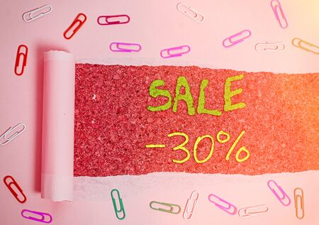 Handwriting text Sale 30 Percent. Conceptual photo A promo price of an item at 30 percent markdown