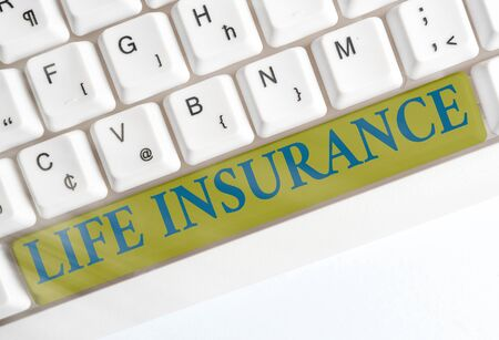 Conceptual hand writing showing Life Insurance. Concept meaning Payment of death benefit or injury Burial or medical claim
