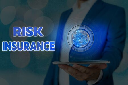 Handwriting text writing Risk Insurance. Conceptual photo The possibility of Loss Damage against the liability coverage Zdjęcie Seryjne