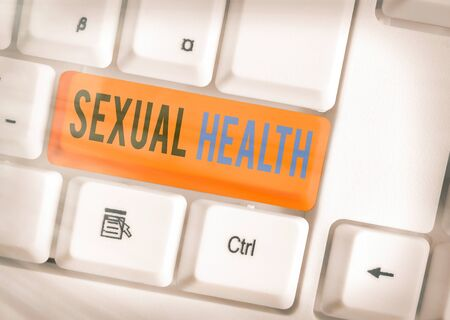Writing note showing Sexual Health. Business concept for Healthier body Satisfying Sexual life Positive relationships
