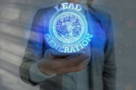 Text sign showing Lead Generation. Business photo showcasing initiation of consumer interest or enquiry into products