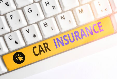 Handwriting text writing Car Insurance. Conceptual photo Accidents coverage Comprehensive Policy Motor Vehicle Guaranty