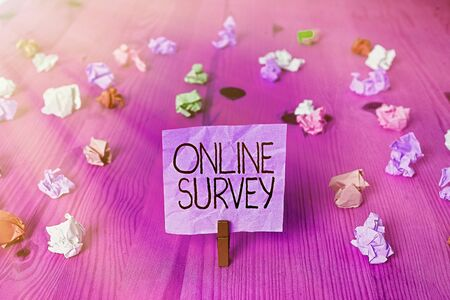 Handwriting text writing Online Survey. Conceptual photo Reappraisal Feedback Poll Satisfaction Rate Testimony