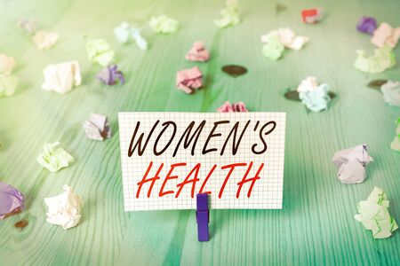 Word writing text Women S Health. Business photo showcasing Women s is physical health consequence avoiding illness