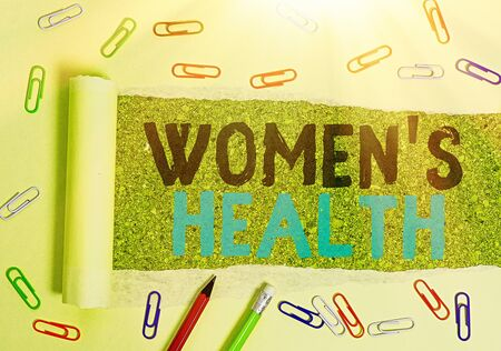 Conceptual hand writing showing Women S Health. Concept meaning Women s is physical health consequence avoiding illness