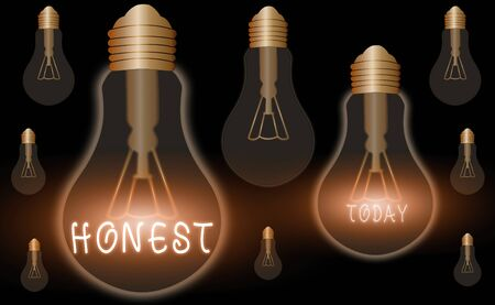 Conceptual hand writing showing Honest. Concept meaning telling the truth or able to be trusted and not likely to steal