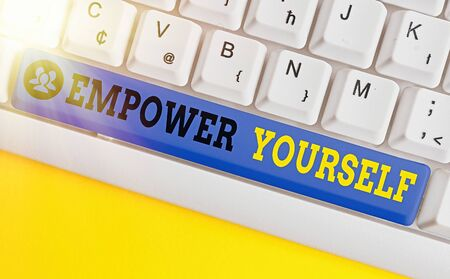 Text sign showing Empower Yourself. Business photo showcasing taking control of our life setting goals and making choices Stock fotó