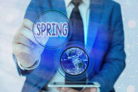 Word writing text Spring. Business photo showcasing the season after winter in which vegetation begins to appear Stock Photo