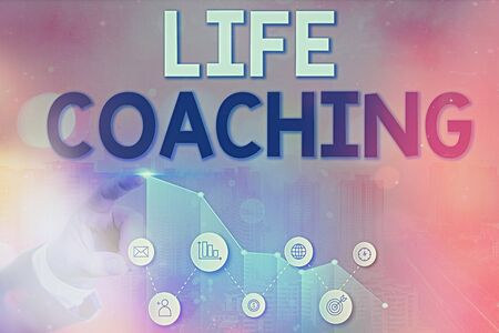 Writing note showing Life Coaching. Business concept for an individual employed to help showing attain their goals in career