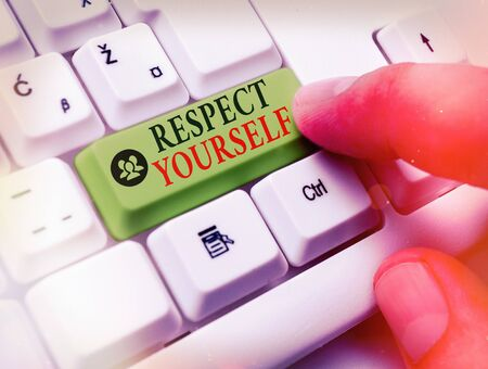 Handwriting text writing Respect Yourself. Conceptual photo believing that you good and worthy being treated well