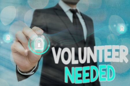 Handwriting text Volunteer Needed. Conceptual photo asking an individual to work for organization without being paid