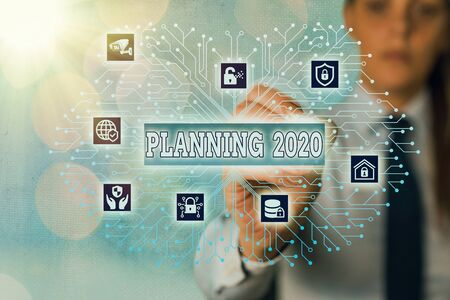 Word writing text Planning 2020. Business photo showcasing process of making plans for something next year