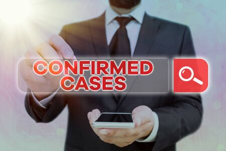 Handwriting text Confirmed Cases. Conceptual photo set of circumstances or conditions requiring action Reklamní fotografie